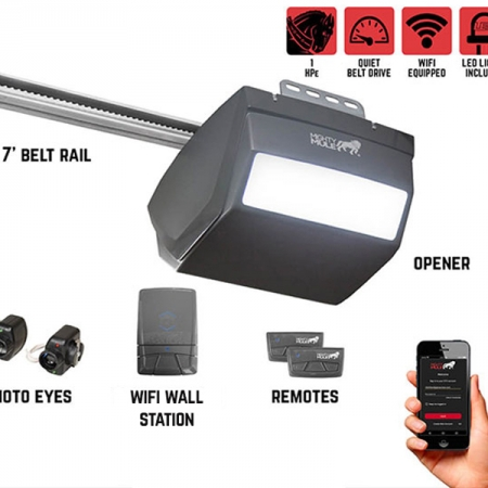 Mighty Mule MM9434K – 1 HPe Smart Garage Door Opener